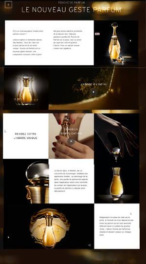 page de vente Dior